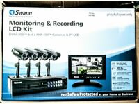 SWANN CCTV Recorder With 4 Cameras Plus A 7 Inch LCD Monitor Brand New In Box Still Sealed