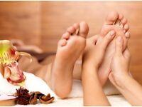 Reflexology and effleurage massage or sports massage. Only Women