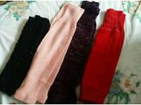 4 pairs of leg warmers