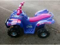 Small child's quad bike