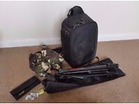 Camera bag, tripod and accessories for sale