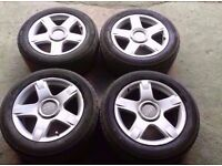 "2000-2005 AUDI ALLROAD C5 17"" ALLOY WHEELS WITH TYRES 225/55ZR17"