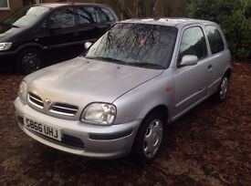 Nissan Micra SI 1275cc with MOT until June 17th 2017 with Full Service History.Drives perfectly.
