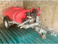 Yanmar diesel 3000 PSI fast tow 1200 litre bowser pressure washer