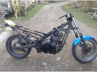 Kawasaki EX500-D7 Rolling Frame With Broken Engine, Spares or Repairs/Project.