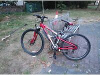 Apollo dual suspension hybrid mountain bike great condition with chain lock ready to go Ono