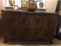 Wooden retro chest of drawers