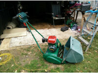Qualcast 35 petrol cylinder mower with grassbox