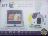 Bt Hd baby monitor with light show and lcd screen