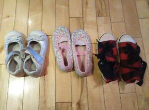 3 pairs of girl's shoes - size 10