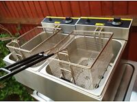"""Commercial Buffalo Electric Double deep fat fryer catering equipment """" BRAND NEW """""""