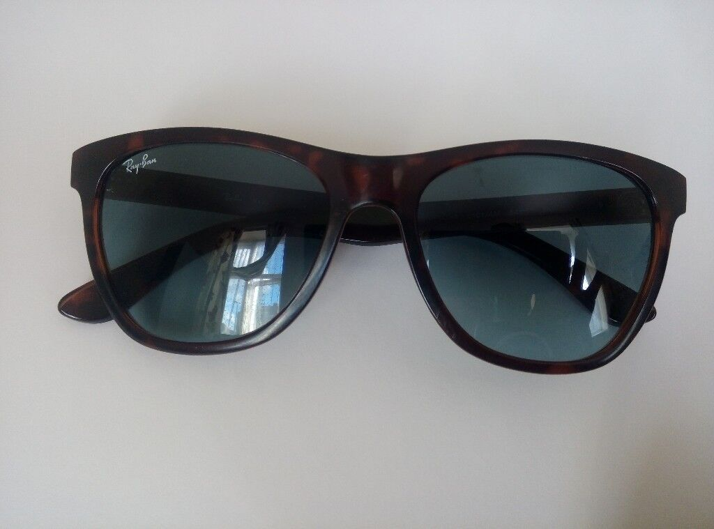 3df6d7ef40 RAY BAN SUNGLASSES RB 4184 6101 4M Used GENUINE justin dark brown