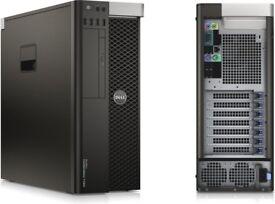Dell Precision T5600 Workstation Xeon E5-2609 16GB RAM FIREPRO 128GB 1000 GB HDD