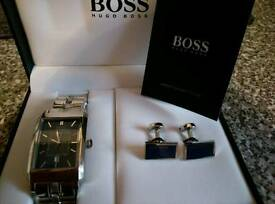 Hugo boss watch & cuff links