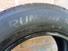 Runway Enduro Car Tyre 195 60 14. 5.5-6mm Tread