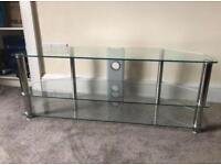 "MMT Rome Glass TV Stand (up to 55"" TV)"