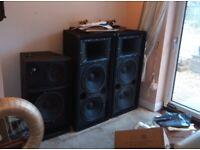 Yamaha pa speakers set 5 speakers
