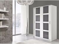 Brand New Modern High Quality 2 Sliding Door Wardrobe PRESTO