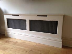 Excellent condition painted wooden radiator boxes x 2