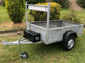 SOLD Trailer galvanised new jockey wheel removable tail gate lights 6x3.5' solid well balanced