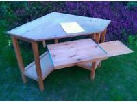 Ikea solid wood corner desk