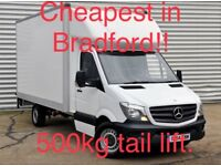 Man with a Louton van 500KG tail Lift Cheapest prices in bradford