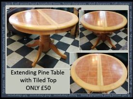 REDUCED Round Dining Table. Seats up to 6