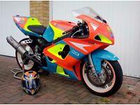 SUZUKI GSXR 600 600cc Track Bike & Track Box - Full Package - BEMSEE - BMCRC Thunderbike GIXER GSXR