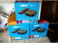 Now TV box - 1 month Sky cinema pass - 2 months Sky entertainment pass-3 months kids pass-Brand New!