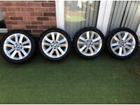BMW Alloy Wheels 17 with Matching Goodyear Tyres Very Good Condition