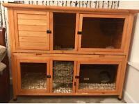 Rose Cottage Rabbit/Guinea Pig Hutch
