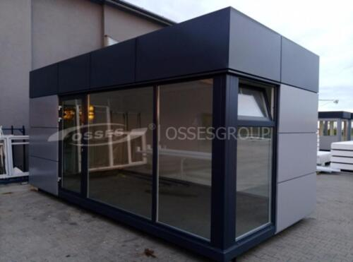 B ro modul verkaufs container pavillon kiosk garten for Modul container haus