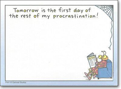 Rest Of My Procrastination Funny Sticky Notes Post It Note Pad