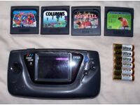 Sega game gear, fully working with games!!!