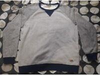 Men's Large Grey and Blue Twisted Soul Jumper