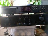 Marantz Amp+CD, Jamo and Wharfedale speakers.