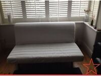 IKEA LYCKSELE 2 Seater Double Sofa Bed with VERY Comfy Thick Mattress VGC