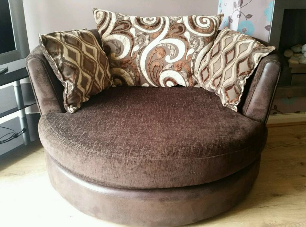 Dfs large swivel/cuddle chair