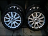"4 x 16"" GENUINE VOLVO ALLOY WHEELS & GOOD WINTER TYRES"