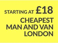 CHEAPEST ROMFORD Man & Van. Starting £12! Save 80%! UK Govt. approved.