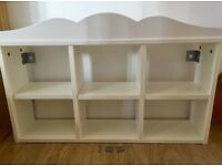 IKEA six box white shelf in excellent condition