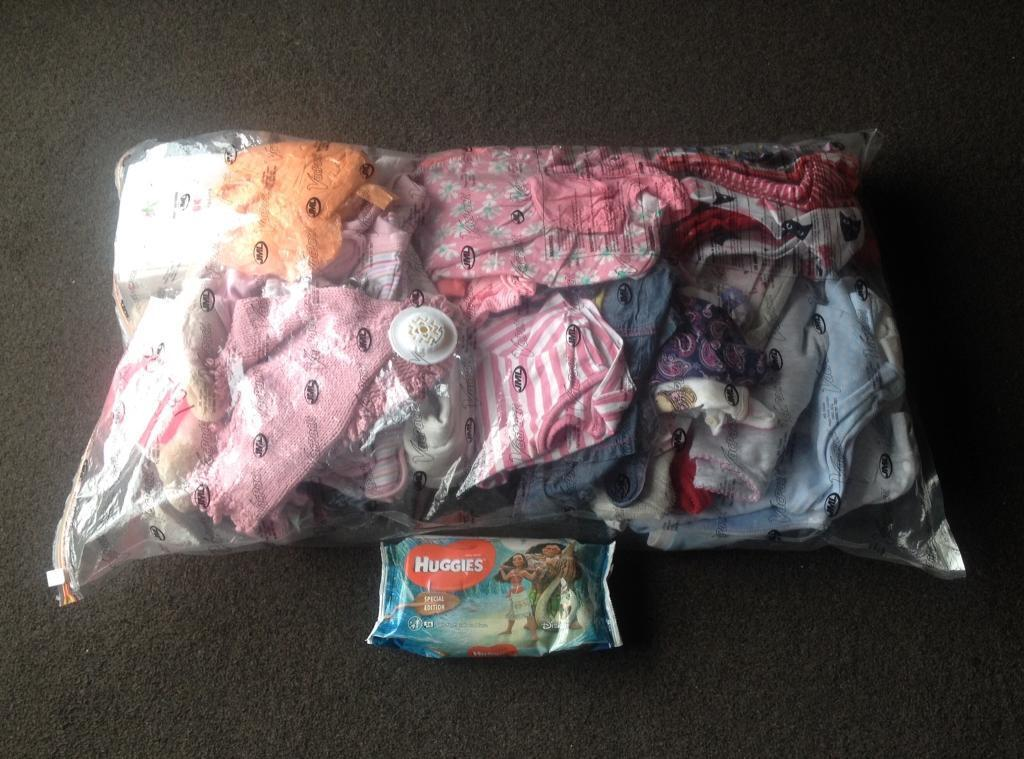 Big Bag of GIRLS Clothes,Grow bag & Shoes ranging from 0-3m 6-9m 18-24m