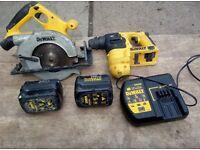 Dewalt hammer drill DC223 + circular saw DW007 24V