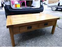 Coffee table solid oak