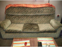 3 seat sofa + 1 armchair in very good condition.
