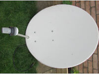 A selection of Satellite dishes, Lnbs and other misc parts