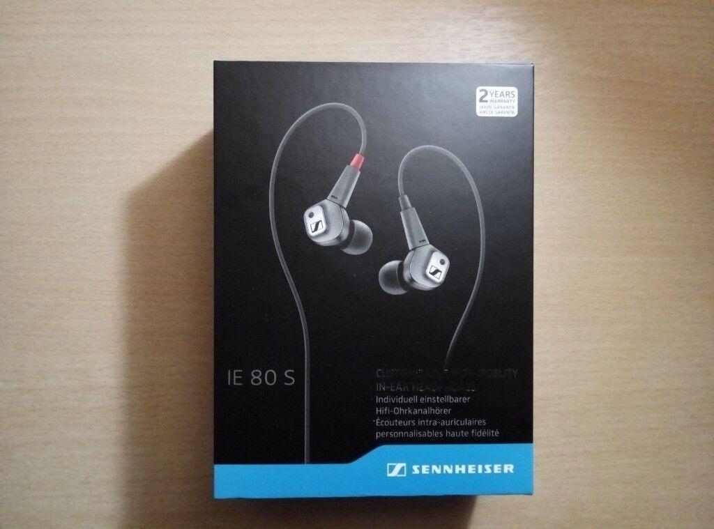Sennheiser Ie 80s In Ear Only Headphones Silverblack In Armagh