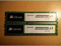 Corsair dual channel kit for sale (DDR3 1600Mhz CL11 2x4Gb)
