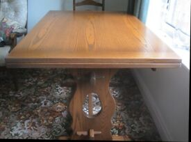 Tudor-style extending table and 4 dining chairs