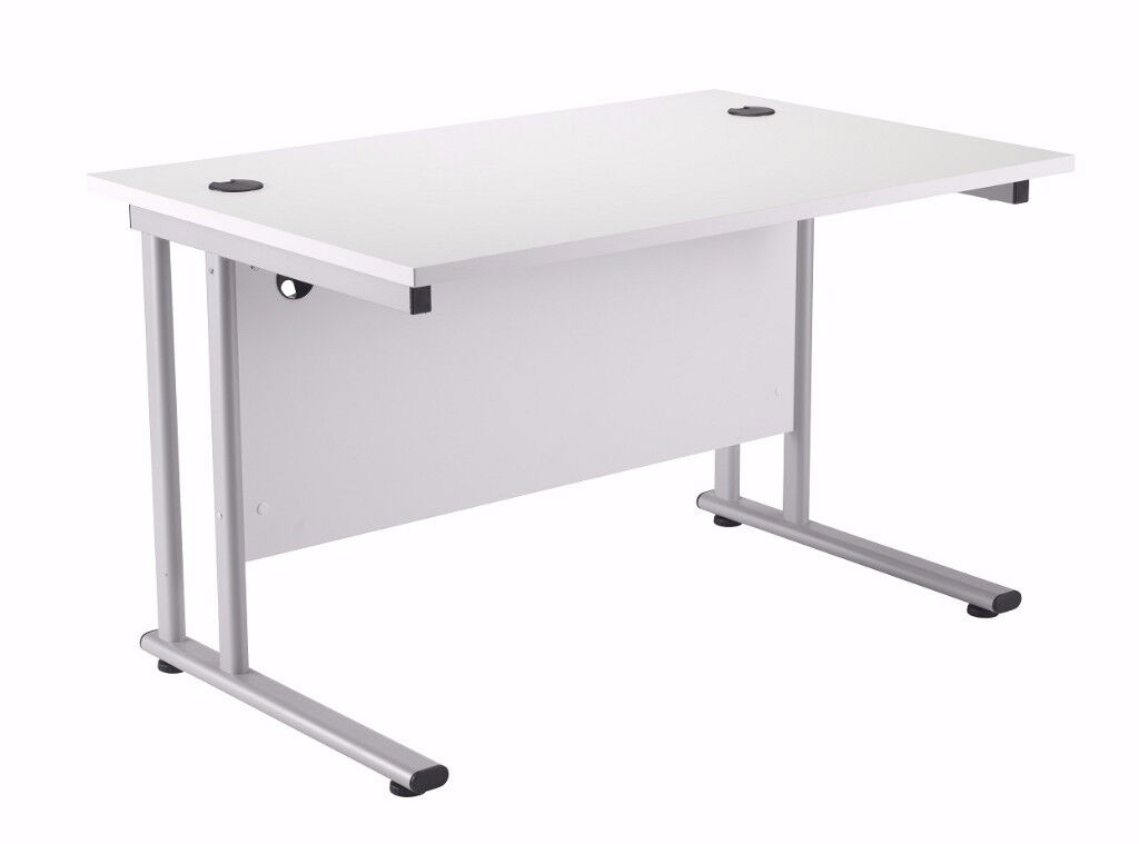 'LOCO' white office desk (used - great condition)